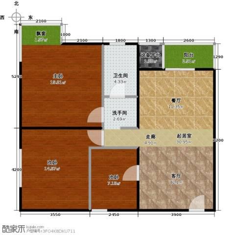 财富东方3室0厅1卫0厨95.00㎡户型图