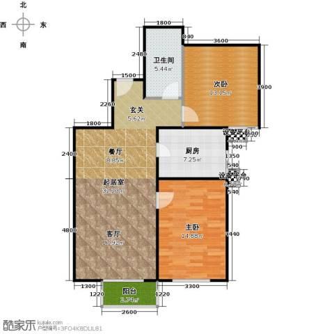 财富东方2室0厅1卫1厨102.00㎡户型图