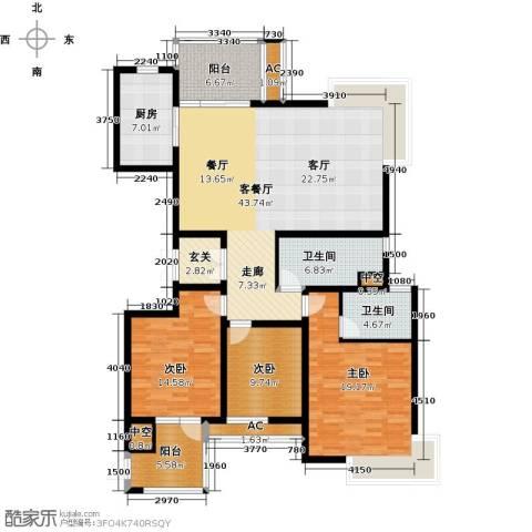 上城3室1厅2卫1厨179.00㎡户型图