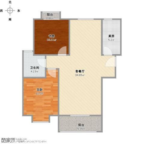 易合坊2室1厅1卫1厨98.00㎡户型图