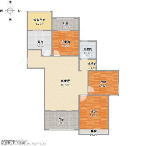 阳光帝景3室1厅1卫1厨139.00㎡户型图