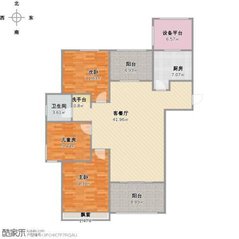 阳光帝景3室1厅1卫1厨151.00㎡户型图