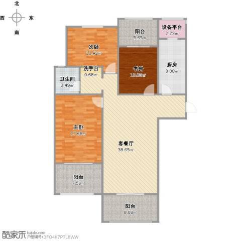 阳光帝景3室1厅1卫1厨152.00㎡户型图