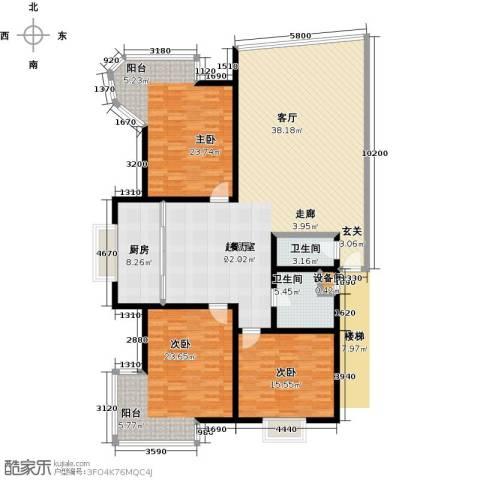 居安家园3室0厅2卫1厨164.32㎡户型图