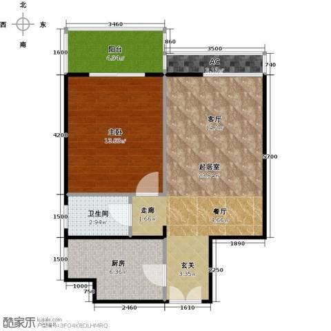 财富东方1室0厅1卫1厨62.00㎡户型图