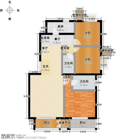 远洋自然3室0厅2卫1厨139.00㎡户型图