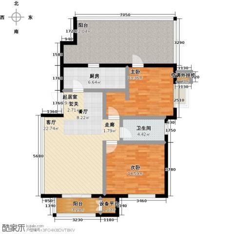 远洋自然2室0厅1卫1厨103.00㎡户型图