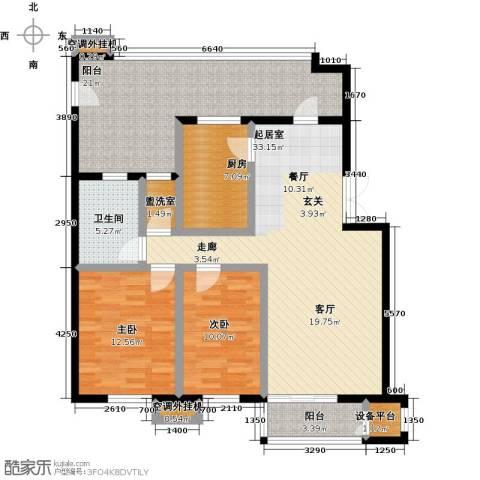 远洋自然2室0厅1卫1厨112.00㎡户型图