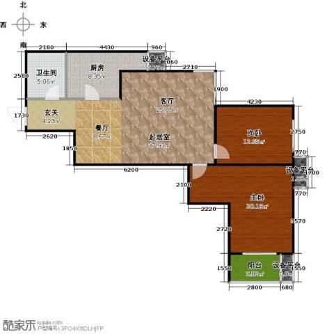 财富东方2室0厅1卫1厨97.00㎡户型图