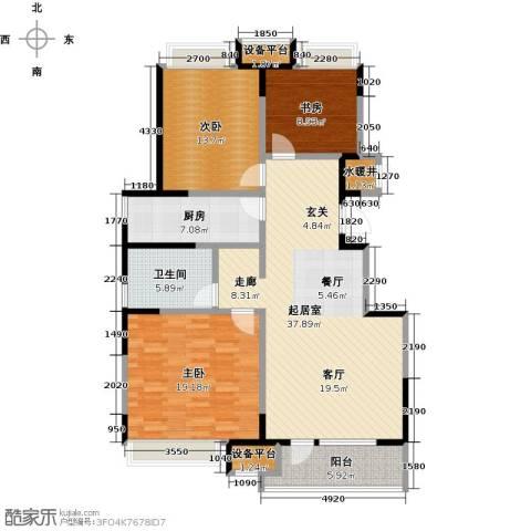 万科明天广场3室0厅1卫1厨113.00㎡户型图
