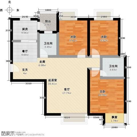 盛华香港城3室0厅2卫1厨112.00㎡户型图
