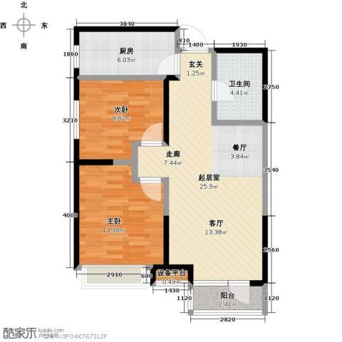 万科明天广场2室0厅1卫1厨83.00㎡户型图