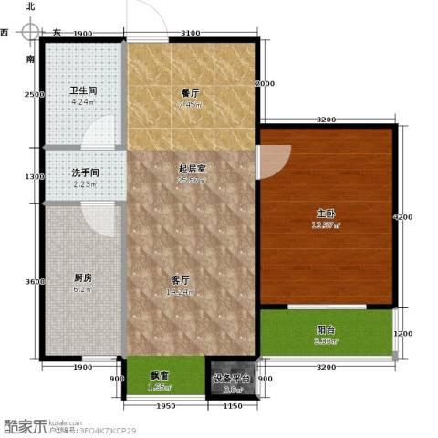 旺力城1室0厅1卫1厨64.00㎡户型图