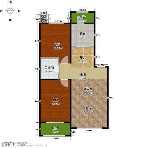 旺力城2室0厅1卫1厨99.00㎡户型图