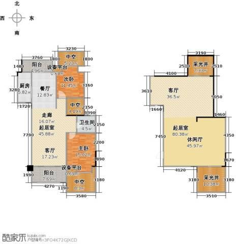 远大生态风景2室0厅1卫1厨282.00㎡户型图