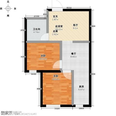 华航・檀香湾2室0厅1卫0厨78.00㎡户型图