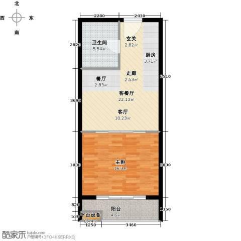 中翔丽晶1室1厅1卫0厨55.00㎡户型图