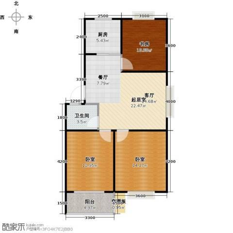 滨海花园1室0厅1卫1厨89.00㎡户型图