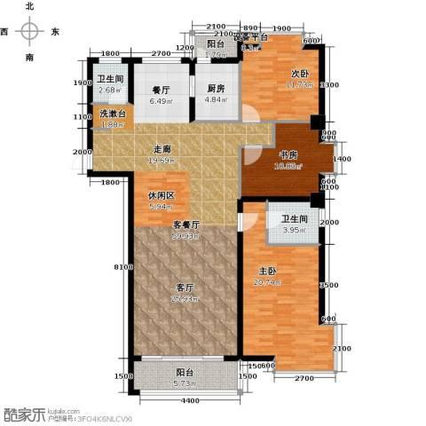 水岸天华3室1厅2卫1厨170.00㎡户型图