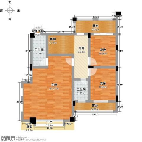 金山龙庭・龙传墅3室0厅2卫0厨290.00㎡户型图
