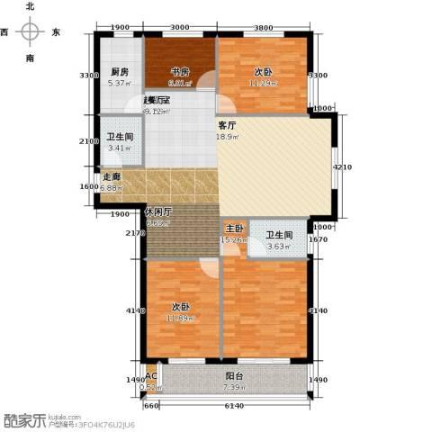 黄冈东方名都4室0厅2卫1厨138.00㎡户型图