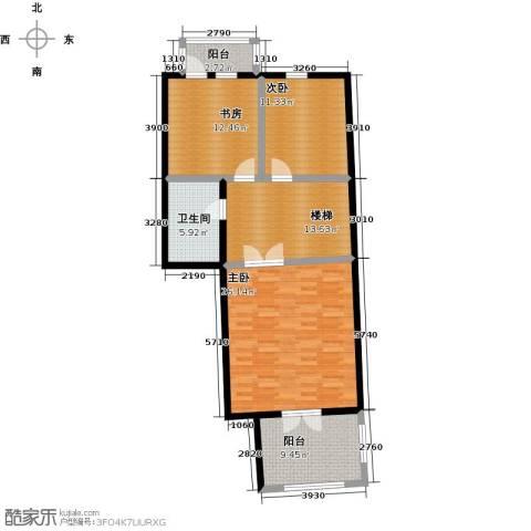未来城三期3室0厅1卫0厨117.00㎡户型图