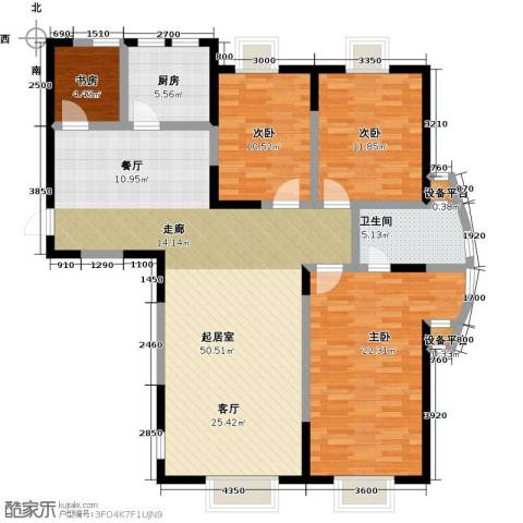 华侨御景湾4室0厅1卫1厨120.00㎡户型图
