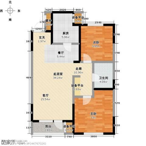 万科明天广场2室0厅1卫1厨95.00㎡户型图
