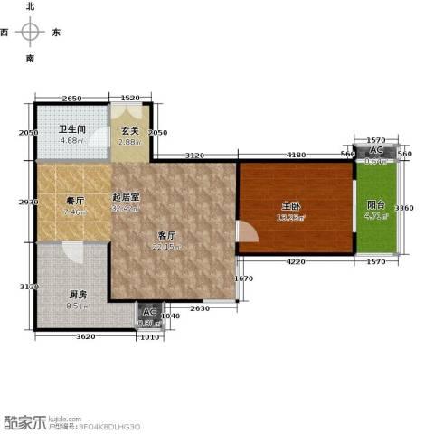 财富东方1室0厅1卫1厨70.00㎡户型图