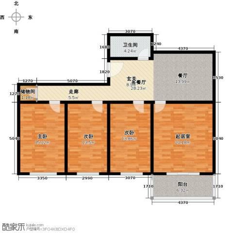 万事吉公寓3室1厅1卫0厨115.00㎡户型图