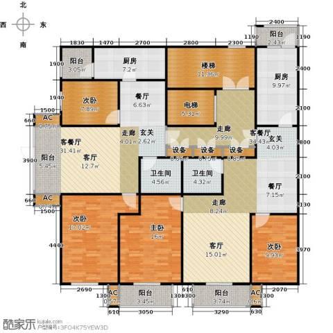 吉利经典4室2厅2卫2厨253.00㎡户型图
