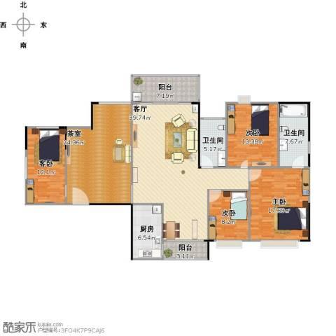 金沙世纪城4室1厅2卫1厨194.00㎡户型图