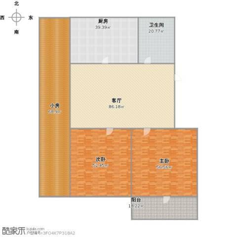 德兴街宿舍2室1厅1卫1厨444.00㎡户型图