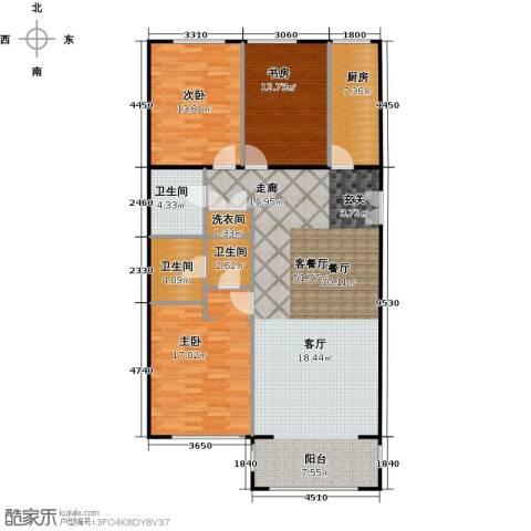 方庄6号3室1厅3卫1厨153.00㎡户型图