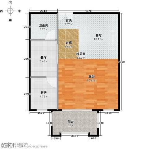 方庄6号1厅1卫1厨70.00㎡户型图