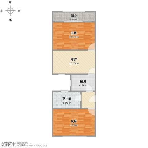 长海四村2室1厅1卫1厨83.00㎡户型图