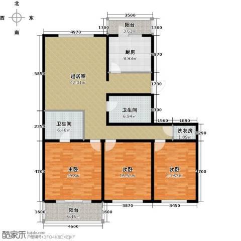 万事吉公寓3室0厅2卫1厨141.83㎡户型图