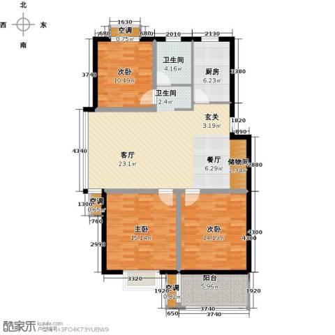 三禾城中城3室0厅1卫1厨107.00㎡户型图