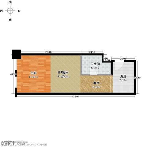 天津公馆1厅1卫0厨64.00㎡户型图