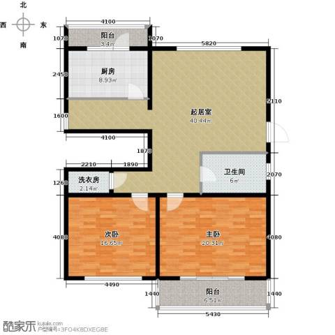 万事吉公寓2室0厅1卫1厨116.31㎡户型图