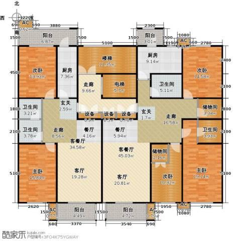 吉利经典5室2厅4卫2厨242.54㎡户型图