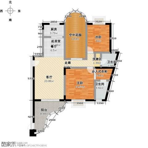 雍景金銮湾2室0厅2卫1厨138.00㎡户型图