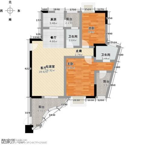 雍景金銮湾2室0厅2卫1厨122.00㎡户型图