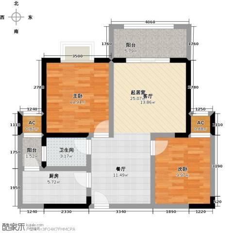 雍景金銮湾2室0厅1卫1厨85.00㎡户型图
