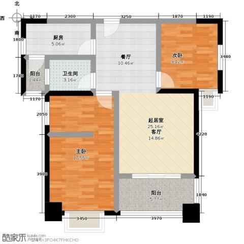 雍景金銮湾2室0厅1卫1厨95.00㎡户型图