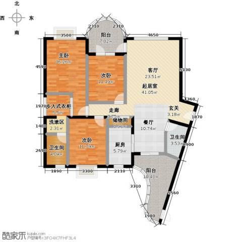 雍景金銮湾3室0厅2卫1厨139.00㎡户型图