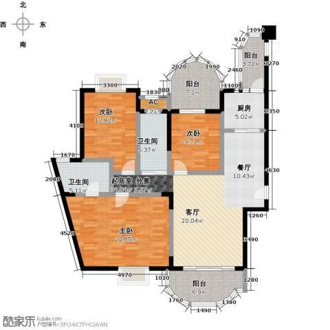雍景金銮湾3室0厅2卫1厨147.00㎡户型图