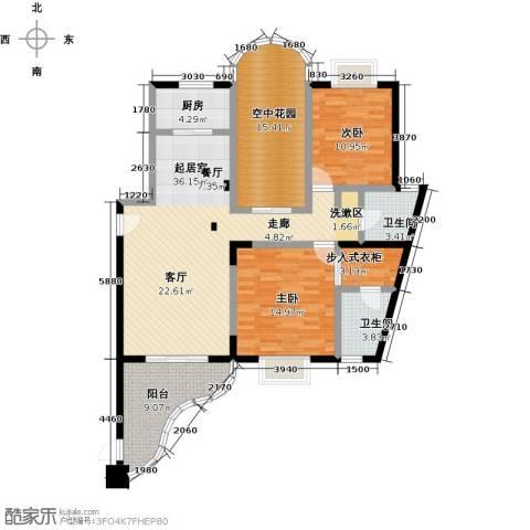 雍景金銮湾2室0厅2卫1厨141.00㎡户型图