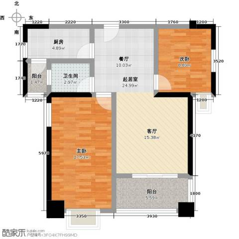 雍景金銮湾2室0厅1卫1厨94.00㎡户型图