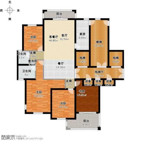 香格里拉花园4室1厅2卫1厨263.00㎡户型图